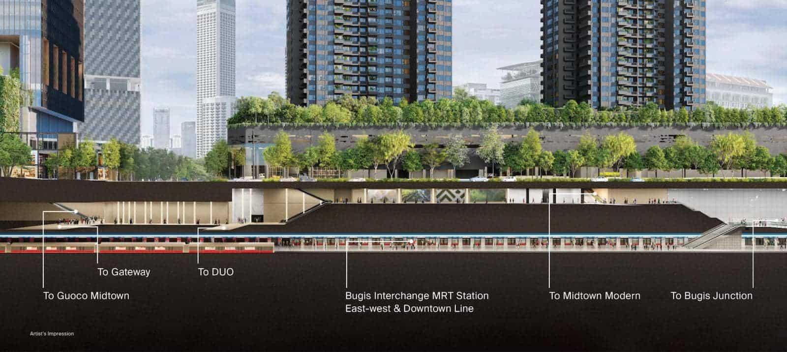 Midtown Modern Location Underground Connectivity
