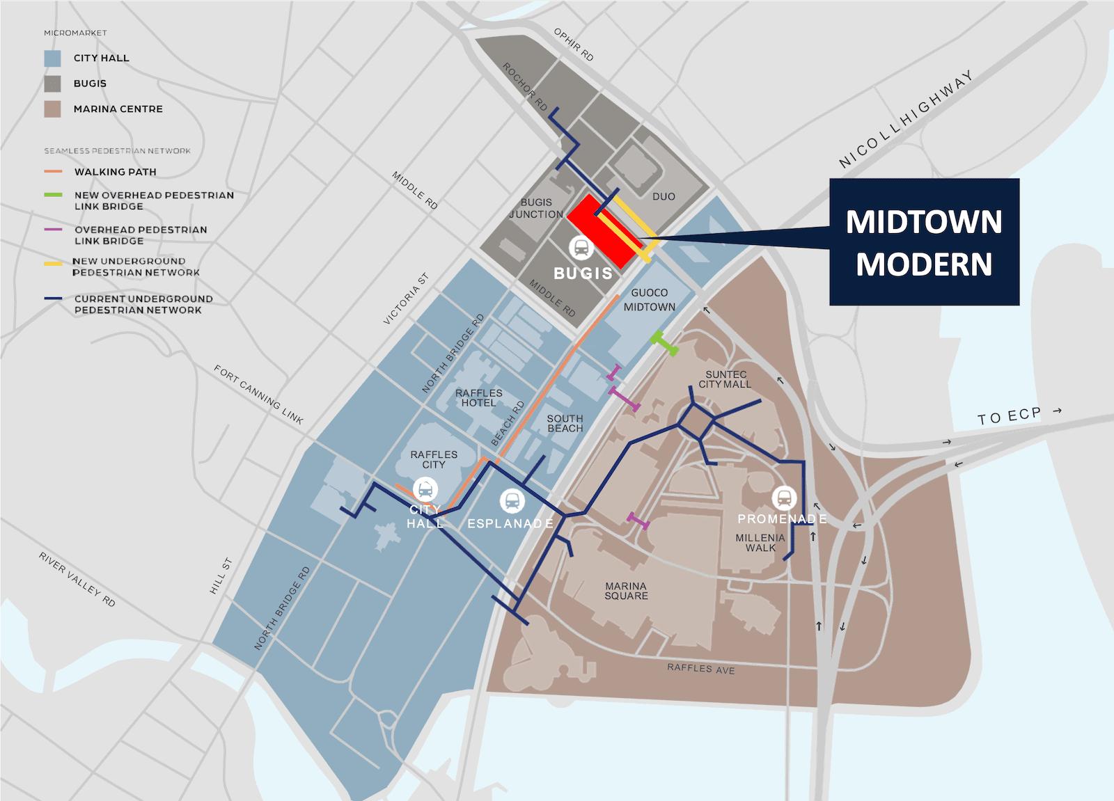 Midtown Modern District Map