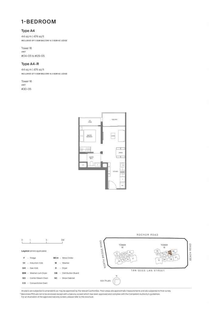 Midtown Modern Floor Plan 1 Bedroom Type A4