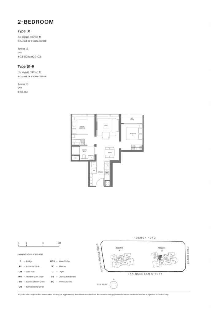 Midtown Modern Floor Plan 1 Bedroom Type B1