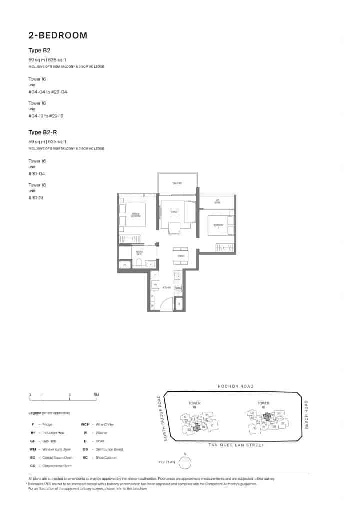 Midtown Modern Floor Plan 1 Bedroom Type B2