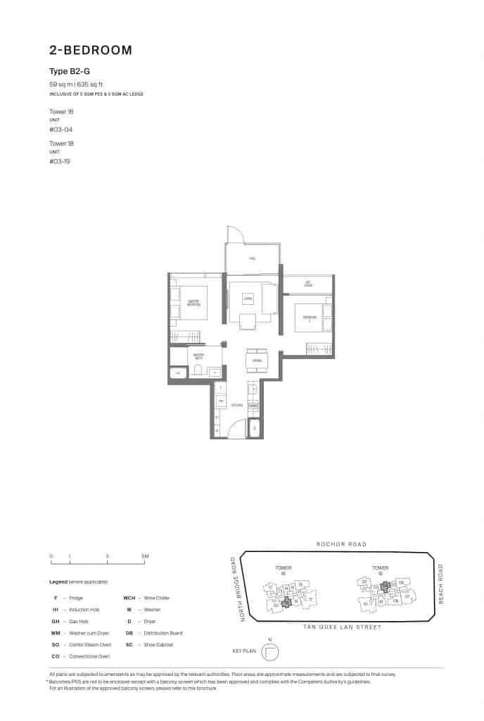 Midtown Modern Floor Plan 1 Bedroom Type B2-G