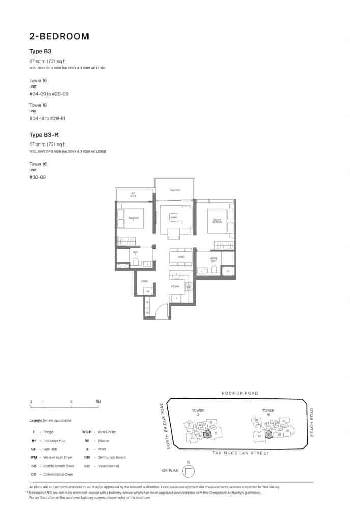 Midtown Modern Floor Plan 1 Bedroom Type B3