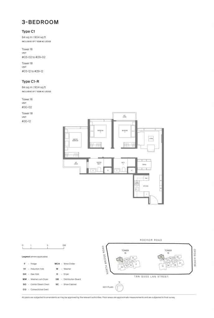 Midtown Modern Floor Plan 1 Bedroom Type C1