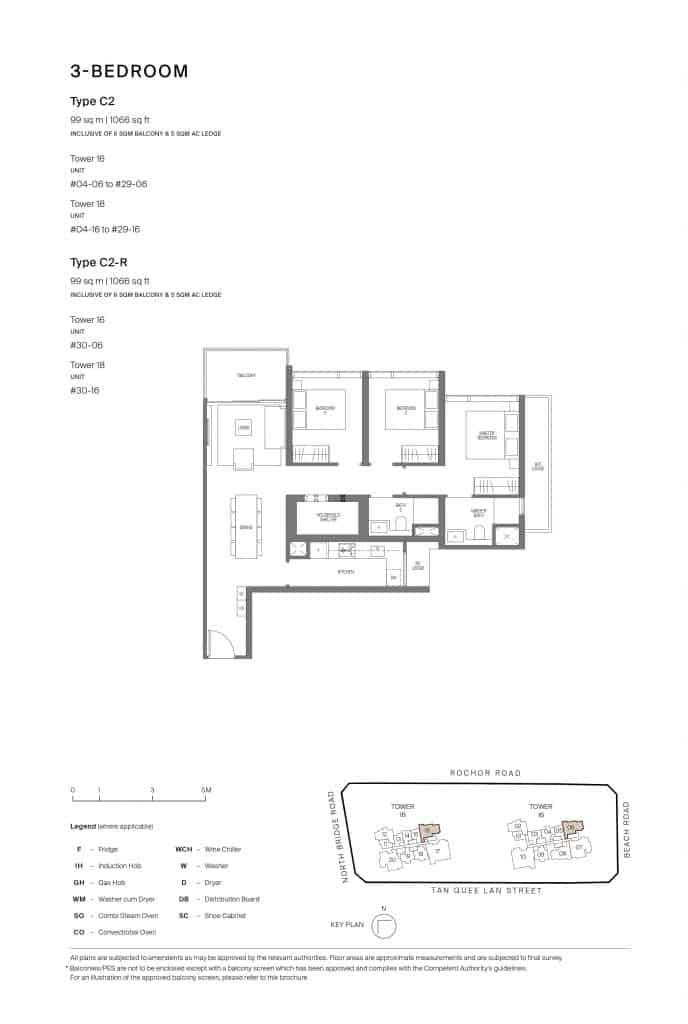 Midtown Modern Floor Plan 1 Bedroom Type C2