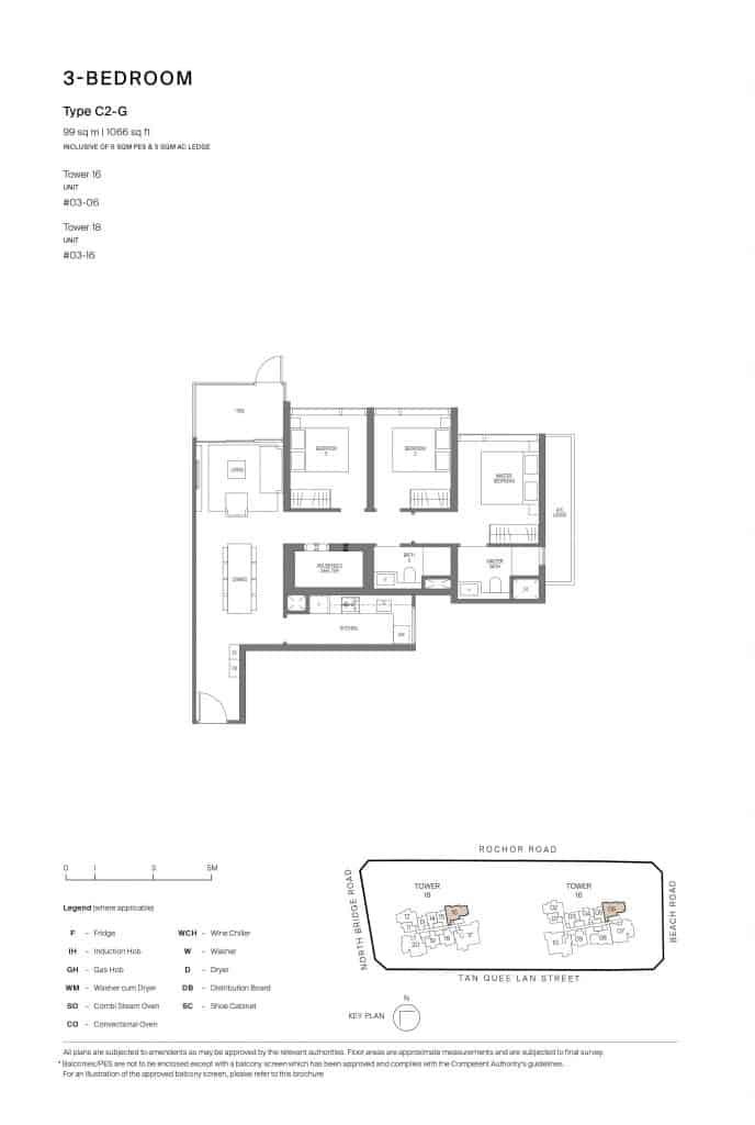Midtown Modern Floor Plan 1 Bedroom Type C2-G