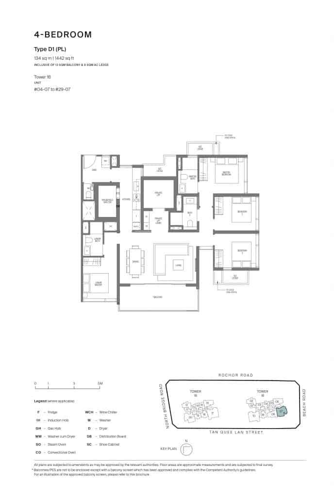 Midtown Modern Floor Plan 1 Bedroom Type D1