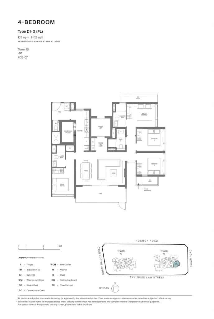 Midtown Modern Floor Plan 1 Bedroom Type D1-G