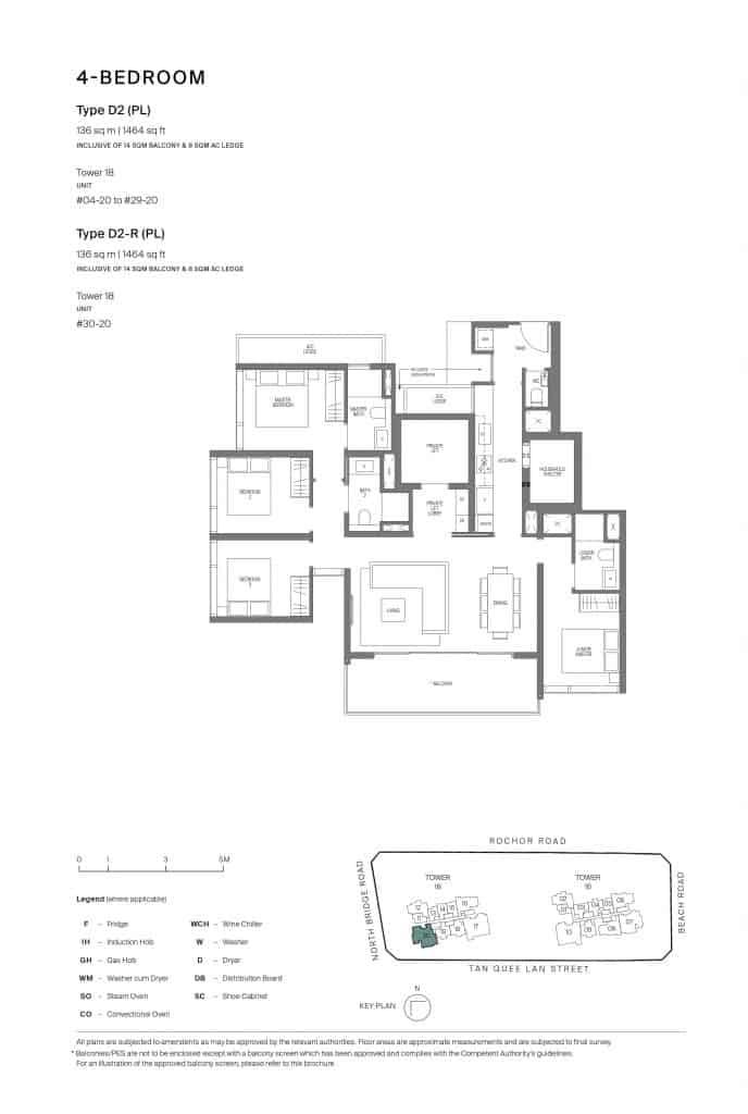 Midtown Modern Floor Plan 1 Bedroom Type D2