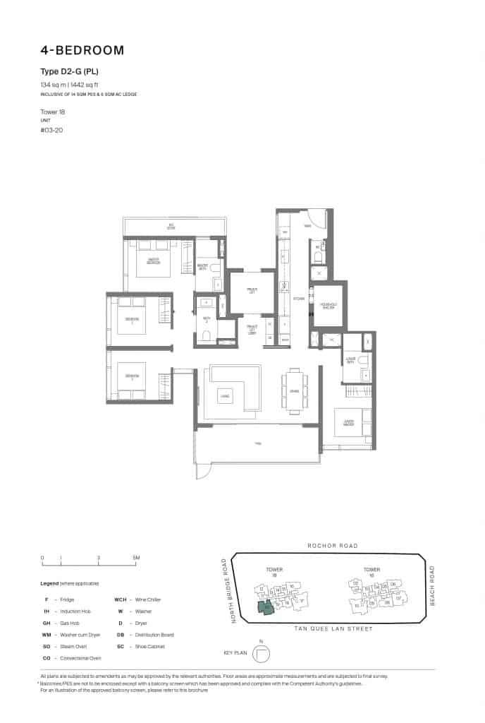 Midtown Modern Floor Plan 1 Bedroom Type D2-G