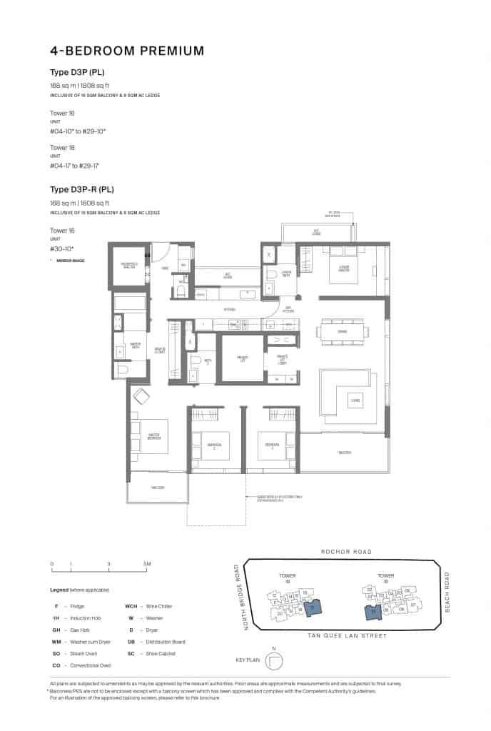 Midtown Modern Floor Plan 1 Bedroom Type D3P