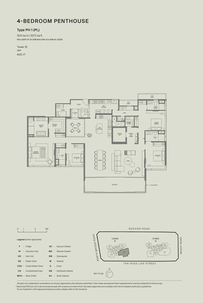 Midtown Modern Floor Plan 1 Bedroom Type PH1