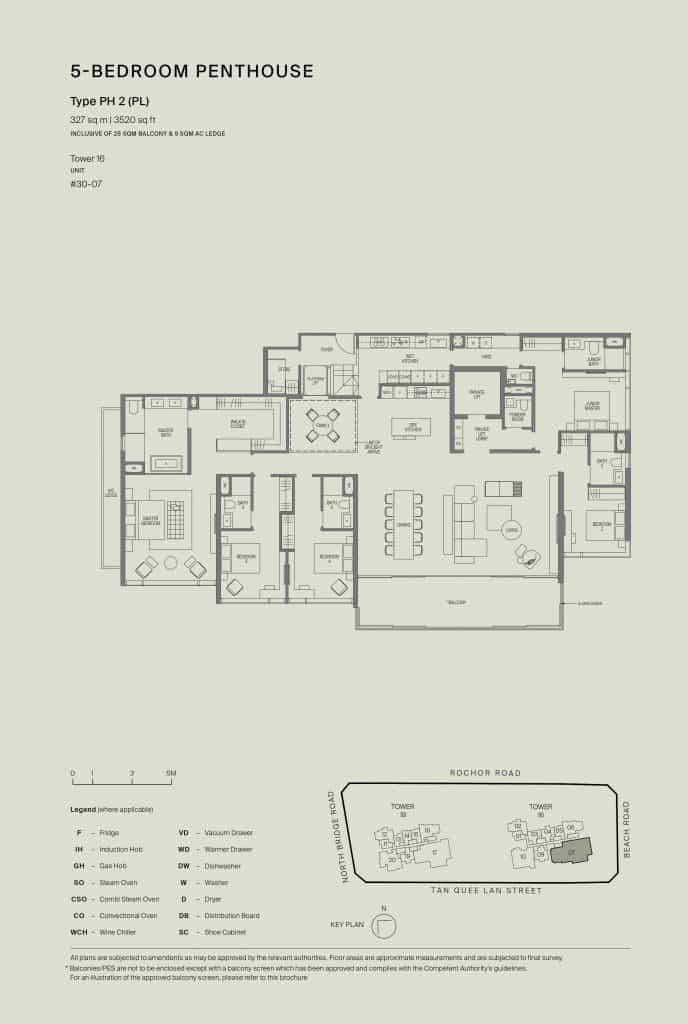 Midtown Modern Floor Plan 1 Bedroom Type PH2