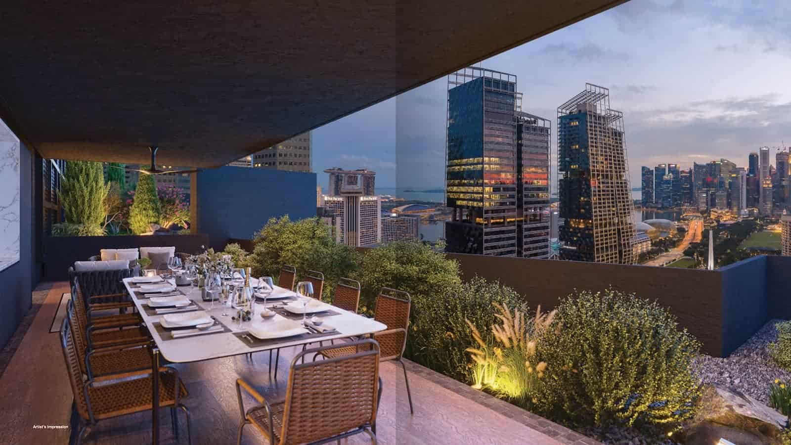 Midtown Modern Unit Mix Roof Pavilion