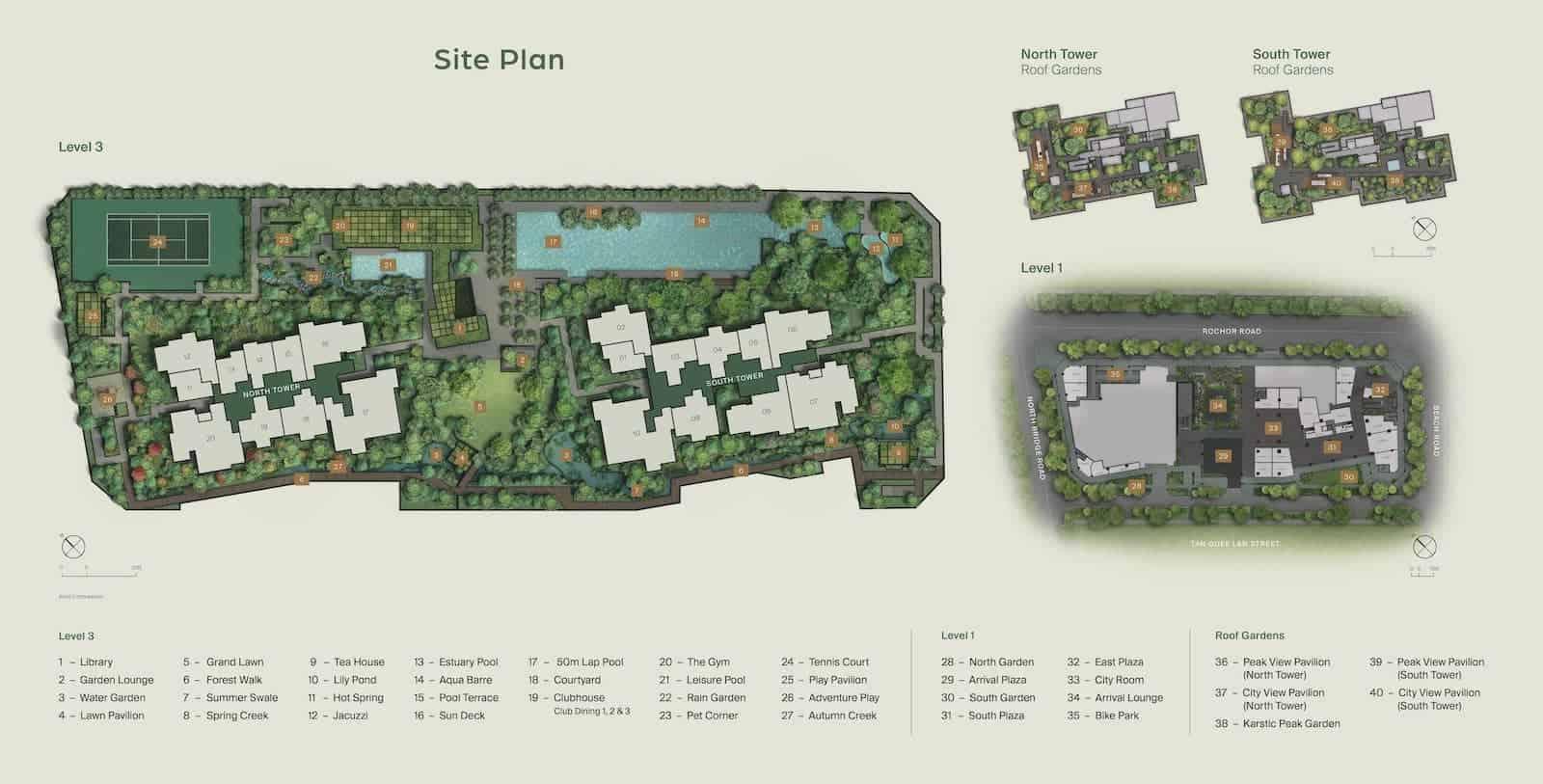 Midtown Modern Site Plan Map